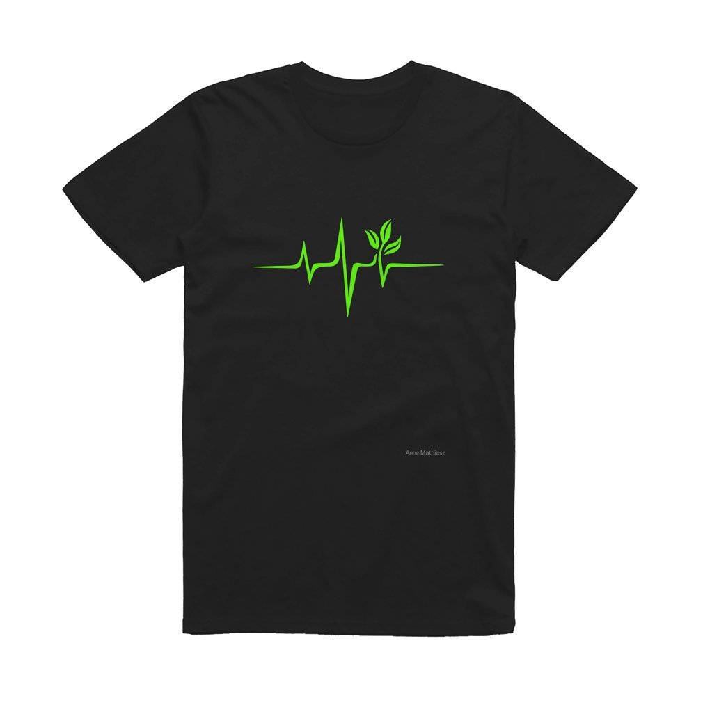 Thumb Heartbeat, Pulse Green, Vegan, Frequency, Wave, Earth, Planet T Shirt