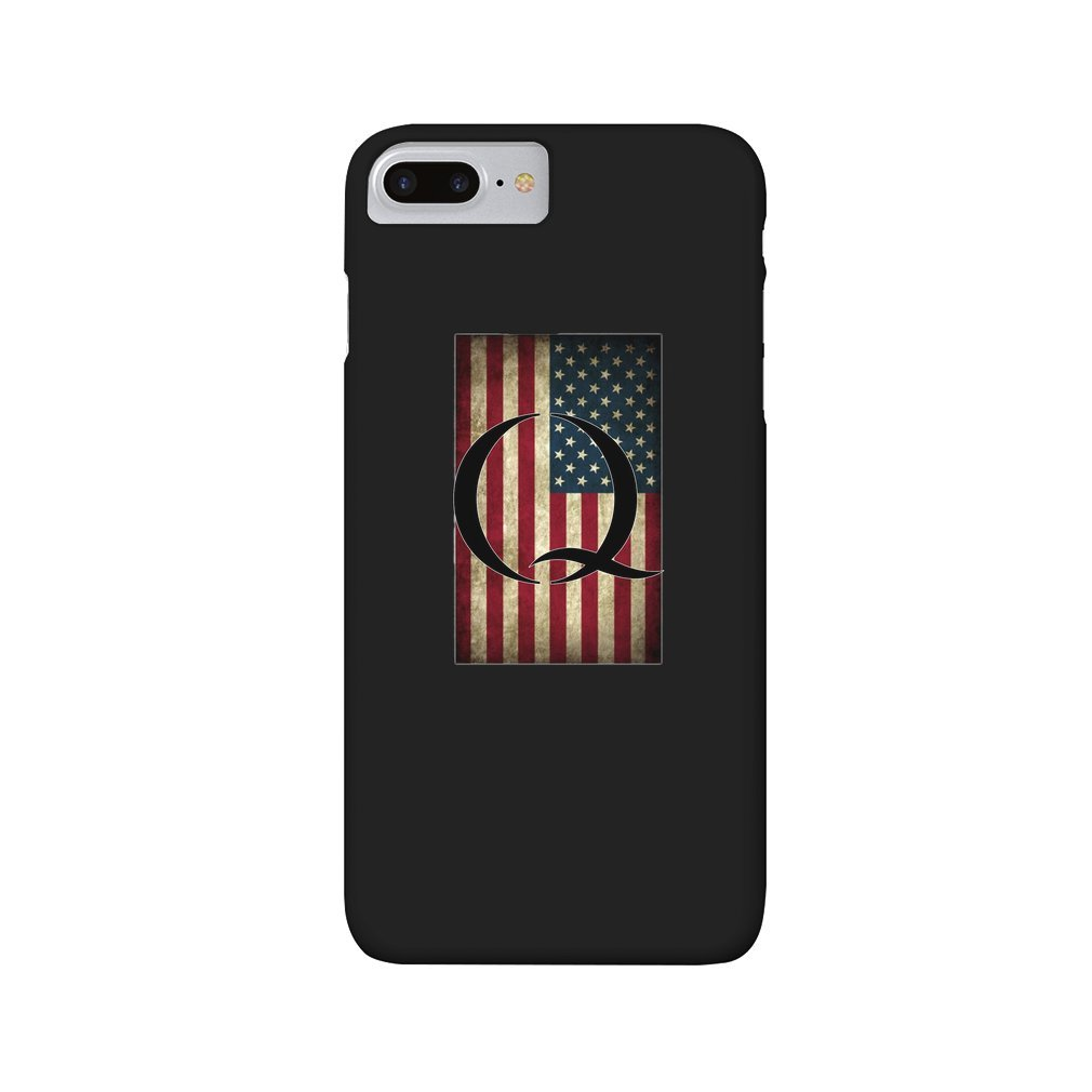 Thumb Q QANON AMERICA USA - WHERE WE GO ONE iPhone 7/8 Plus