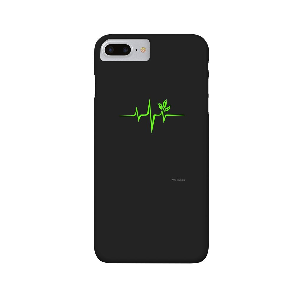 Thumb Heartbeat, Pulse Green, Vegan, Frequency, Wave, Earth, Planet iPhone 7/8 Plus