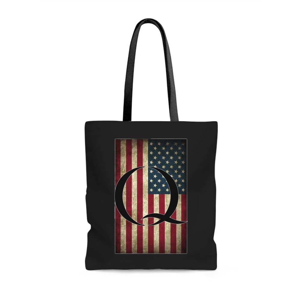 Thumb Q QANON AMERICA USA - WHERE WE GO ONE Tote Bag