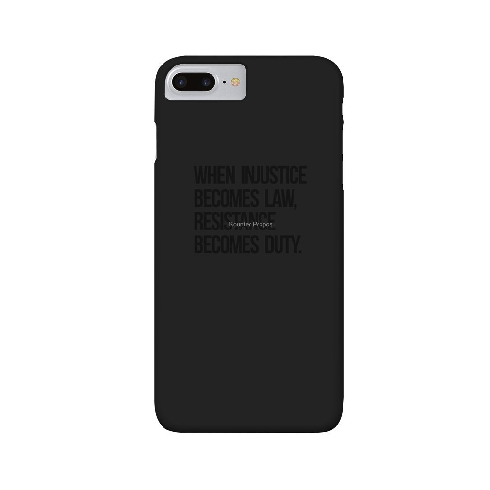 Thumb When Injustice Become Law Resistance Becomes Duty iPhone 7/8 Plus