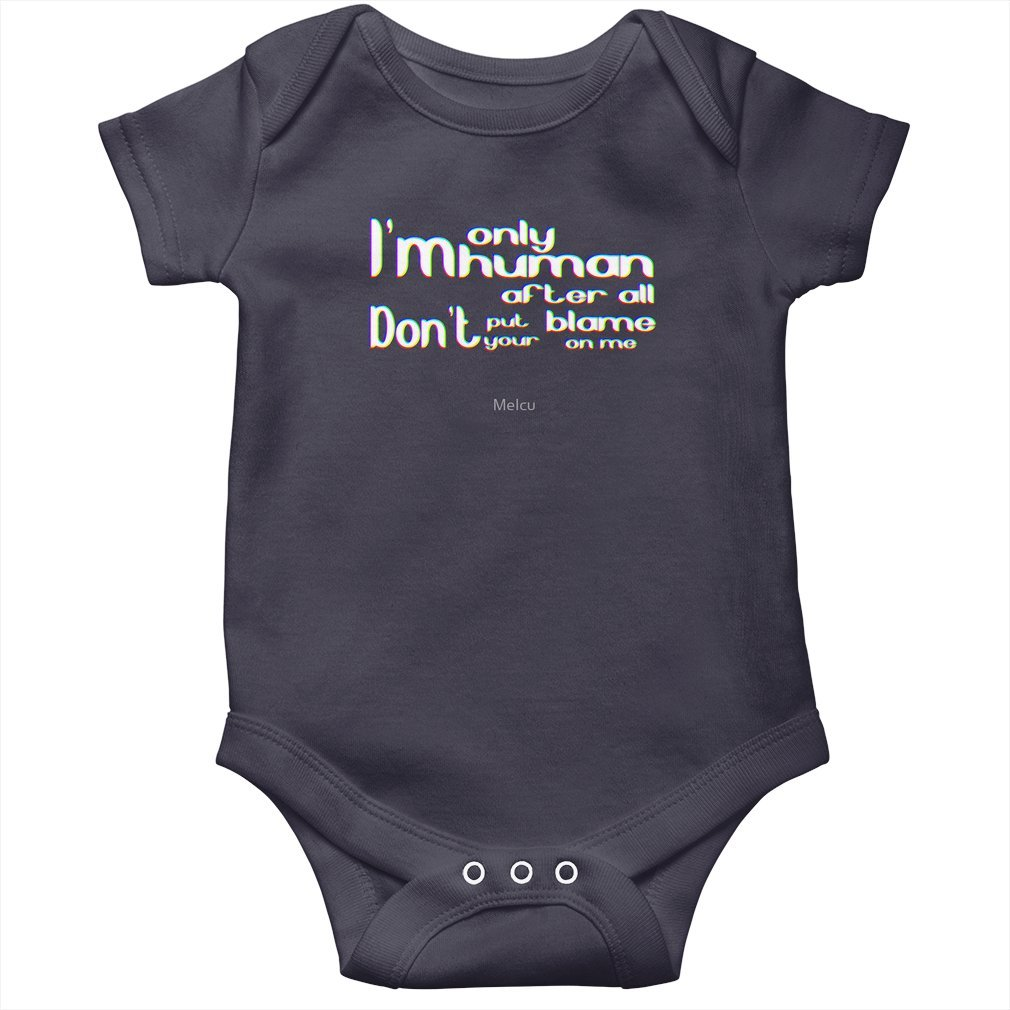 Thumb I'm only human after all Baby Onesie