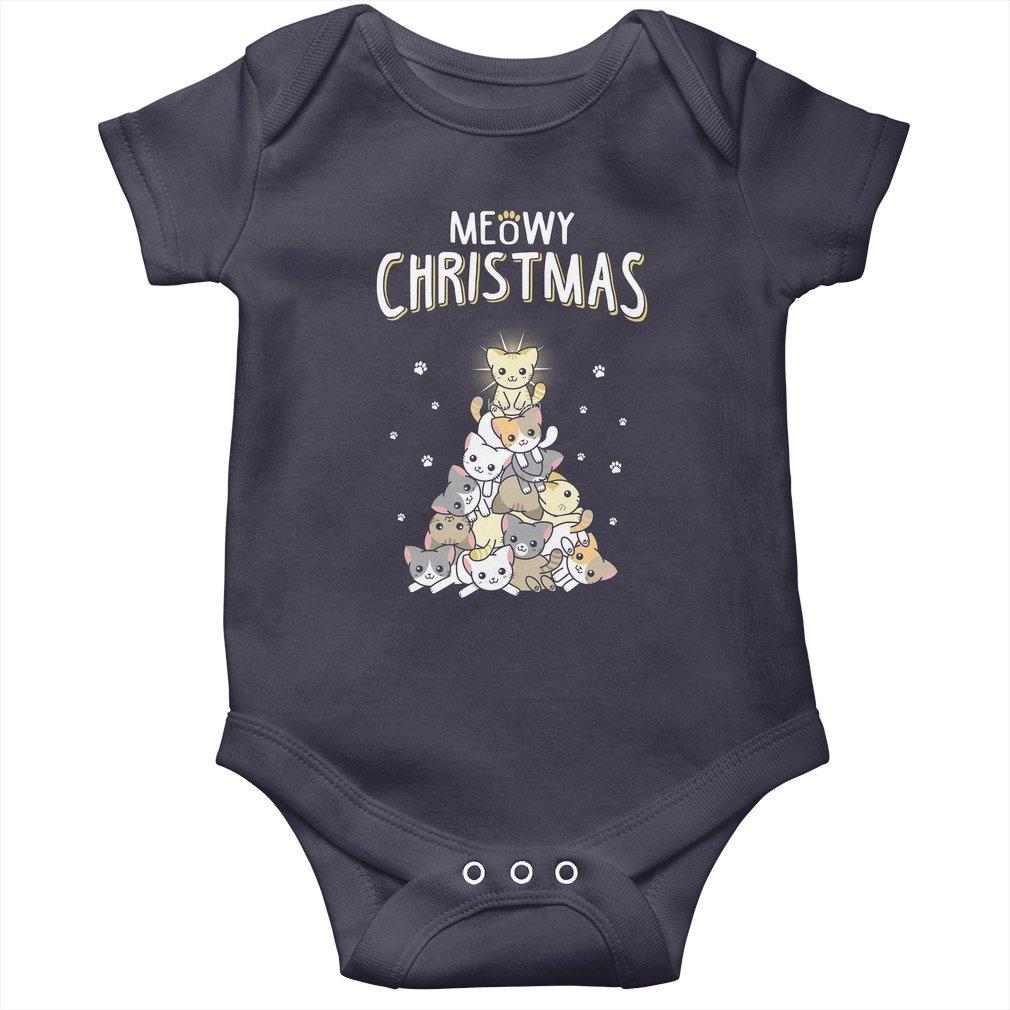 Thumb Meowy Christmas Baby Onesie