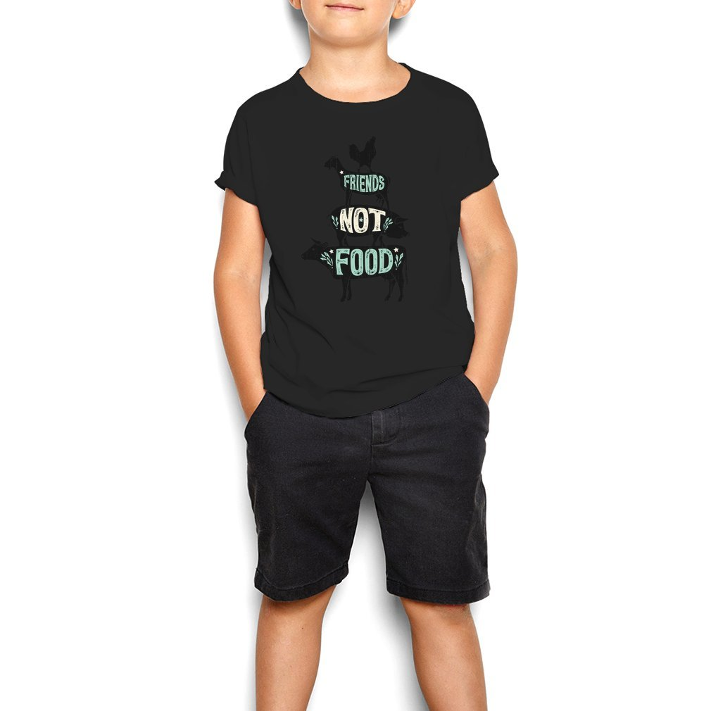 Thumb Friends Not Food - Vegan Vegetarian Animal Lovers T-Shirt - Vintage Distressed Youth Tee