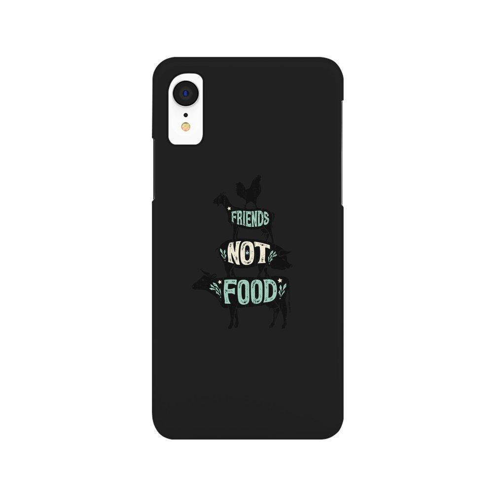 Thumb Friends Not Food - Vegan Vegetarian Animal Lovers T-Shirt - Vintage Distressed iPhone XR