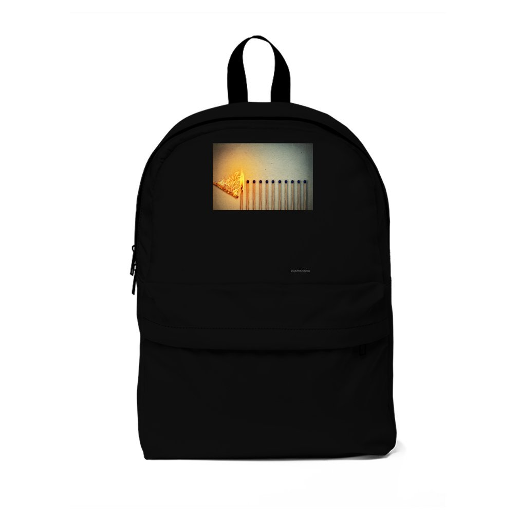 Thumb burning matches Backpack
