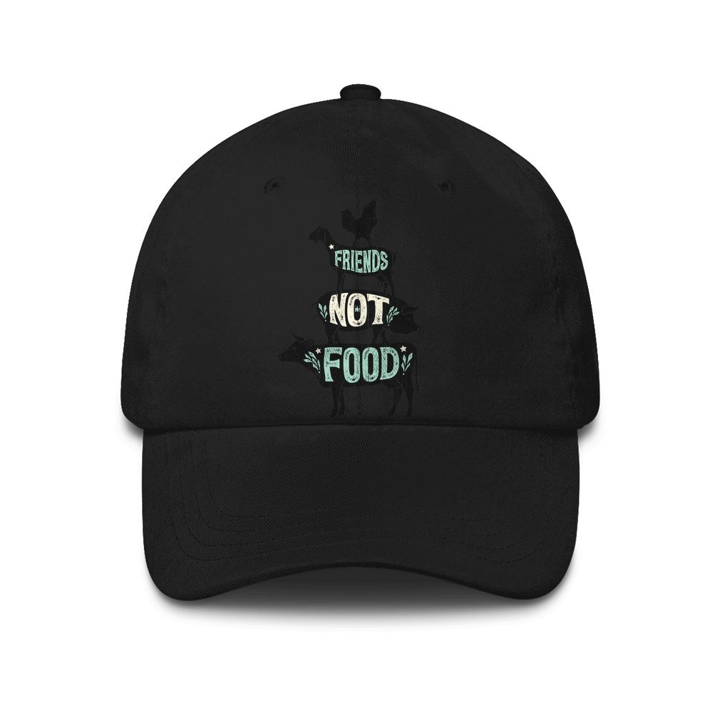 Thumb Friends Not Food - Vegan Vegetarian Animal Lovers T-Shirt - Vintage Distressed Hat