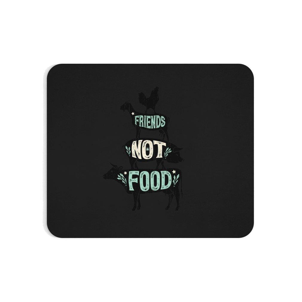 Thumb Friends Not Food - Vegan Vegetarian Animal Lovers T-Shirt - Vintage Distressed Mouse Pad