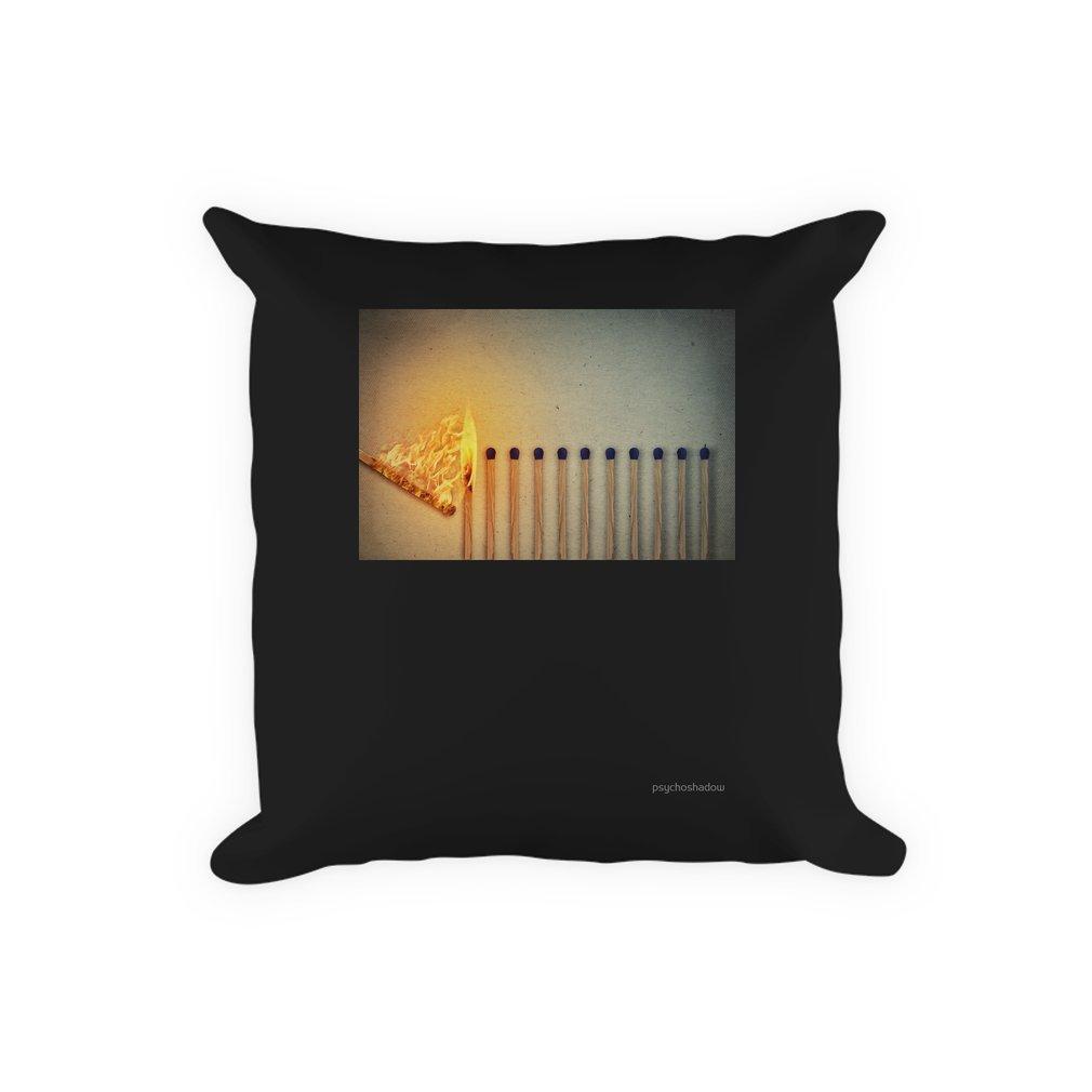 Thumb burning matches Pillow
