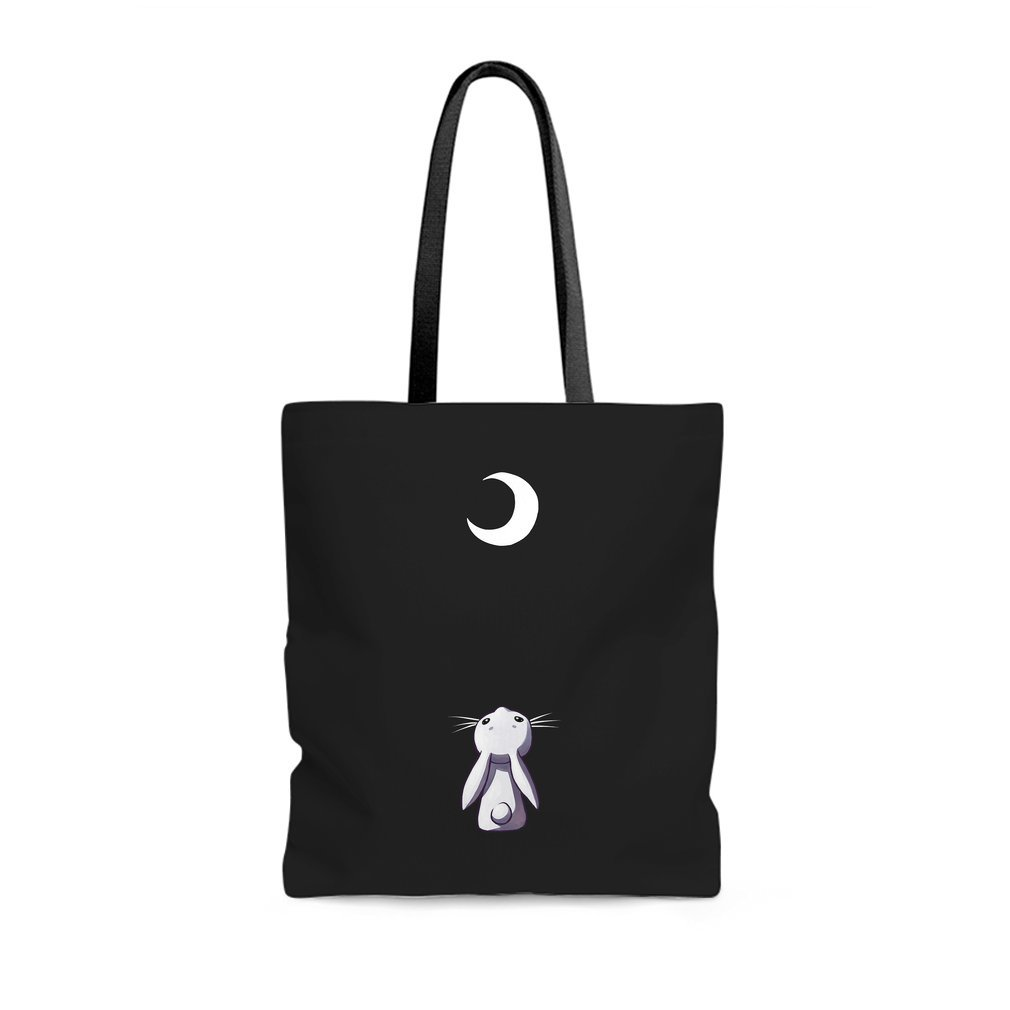 Thumb Moon Bunny Tote Bag