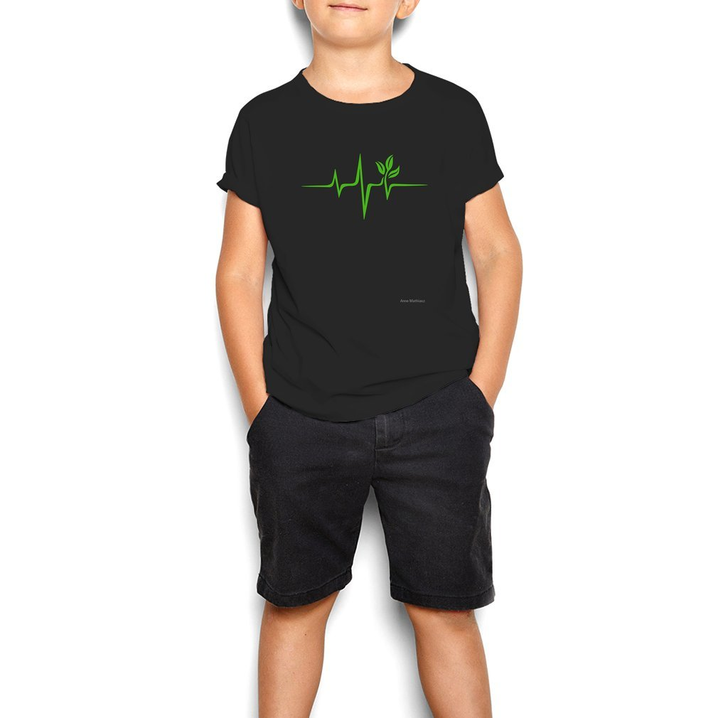Thumb Heartbeat, Pulse Green, Vegan, Frequency, Wave, Earth, Planet Youth Tee