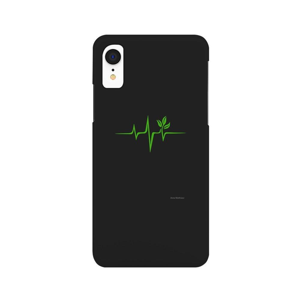 Thumb Heartbeat, Pulse Green, Vegan, Frequency, Wave, Earth, Planet iPhone XR