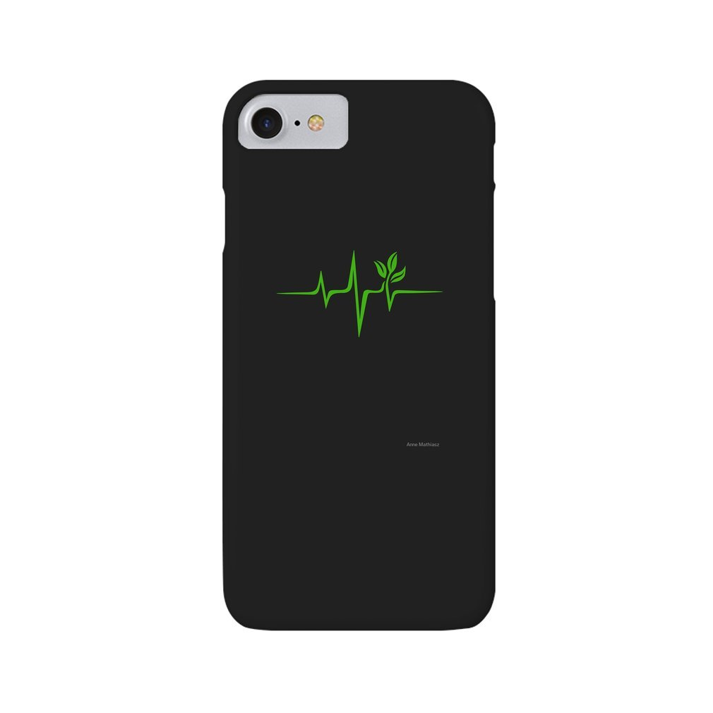 Thumb Heartbeat, Pulse Green, Vegan, Frequency, Wave, Earth, Planet iPhone 7/8