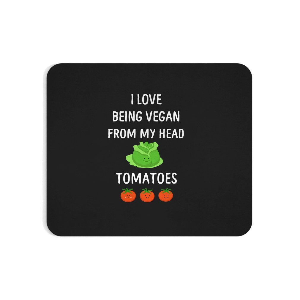 Thumb I Love Being Vegan Funny Veganism Mouse Pad