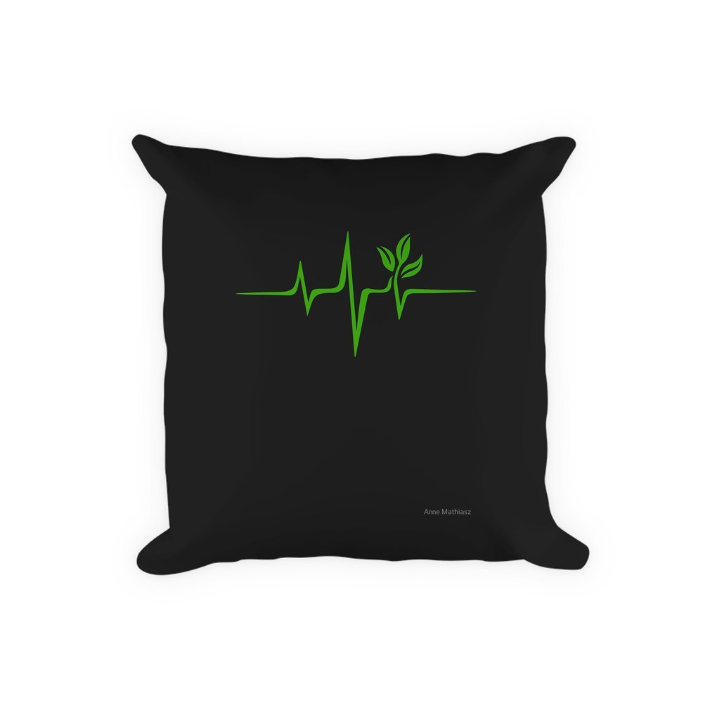 Thumb Heartbeat, Pulse Green, Vegan, Frequency, Wave, Earth, Planet Pillow