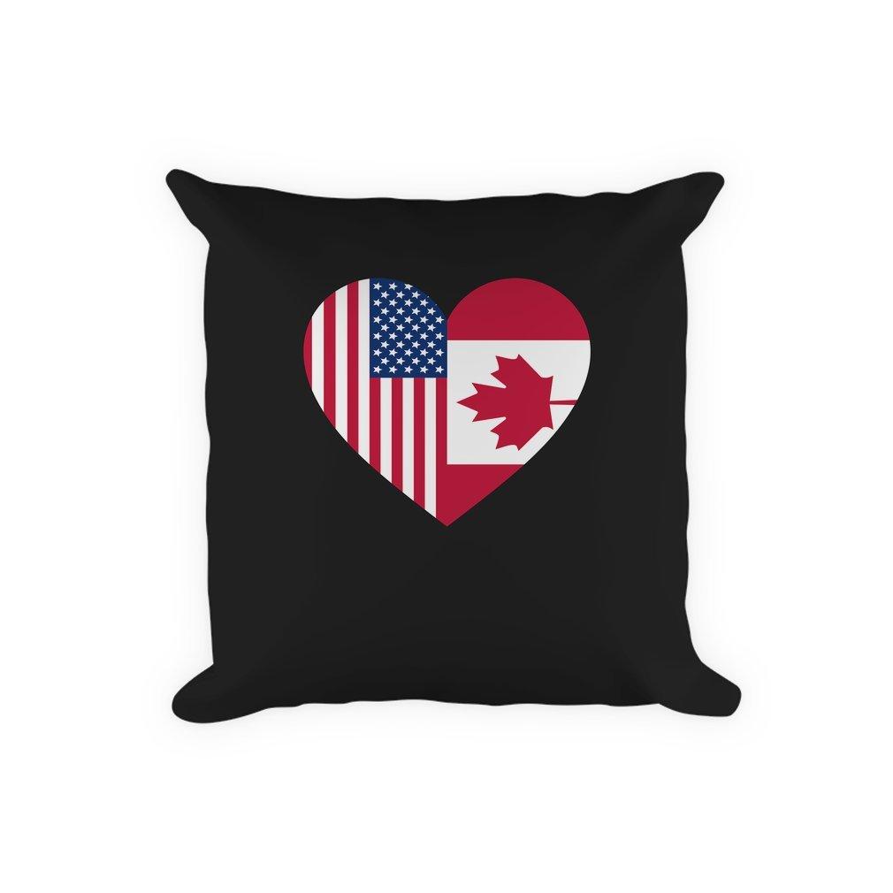 Thumb USA Canada flag heart Pillow