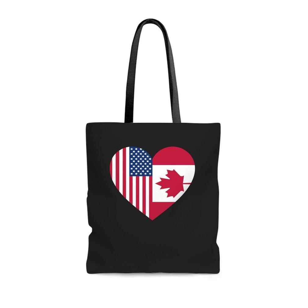 Thumb USA Canada flag heart Tote Bag