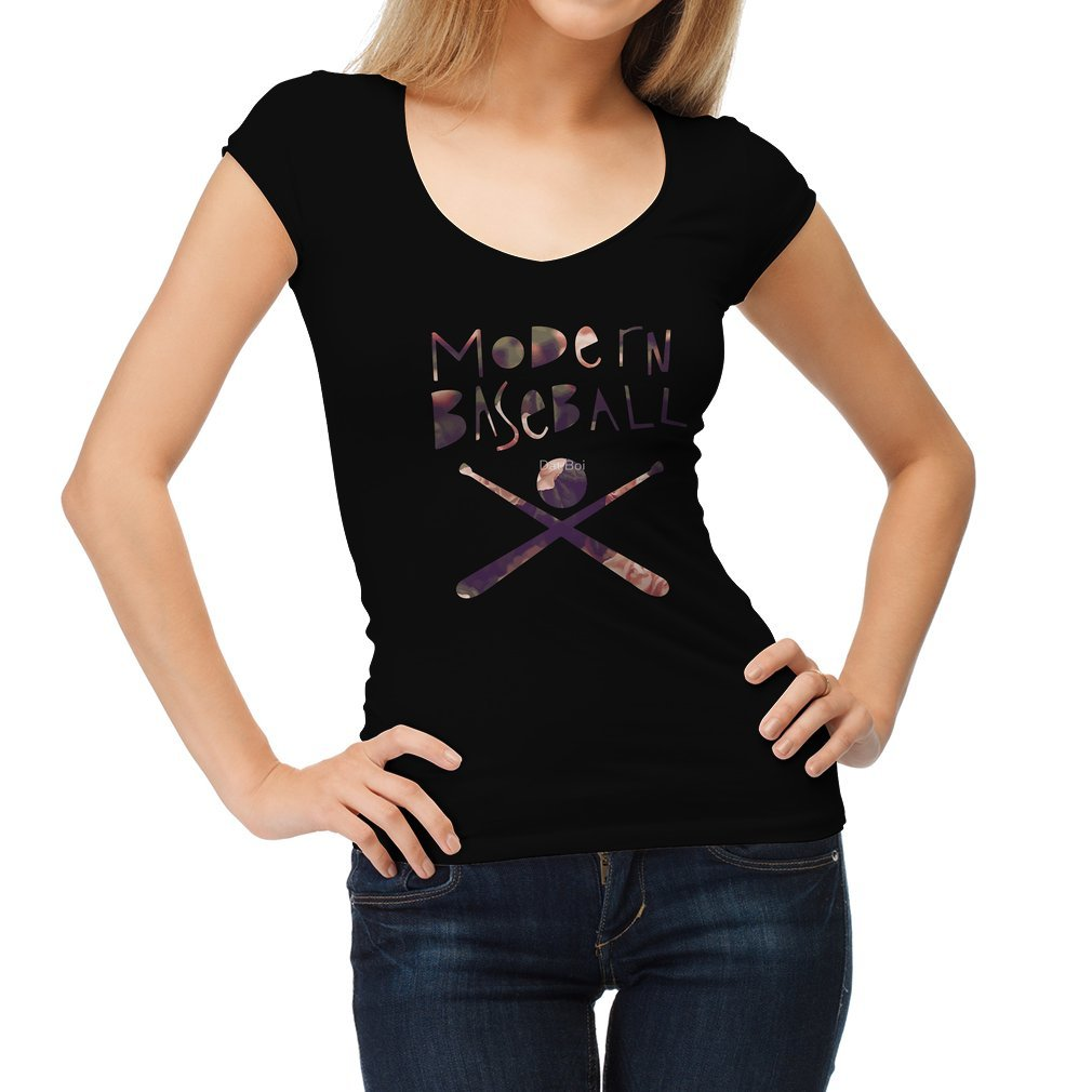 Thumb Modern Baseball Bats Women T Shirt