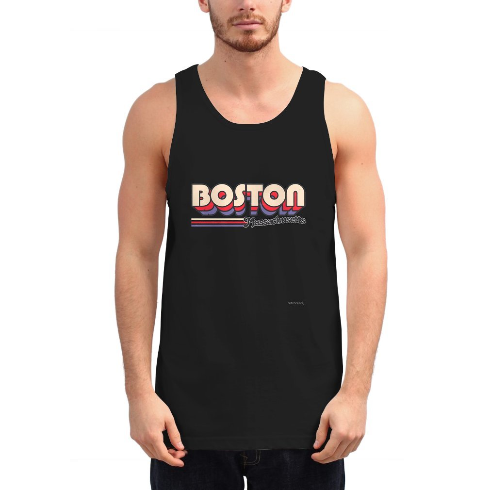 Thumb Boston, MA | City Stripes Unisex Tank Top
