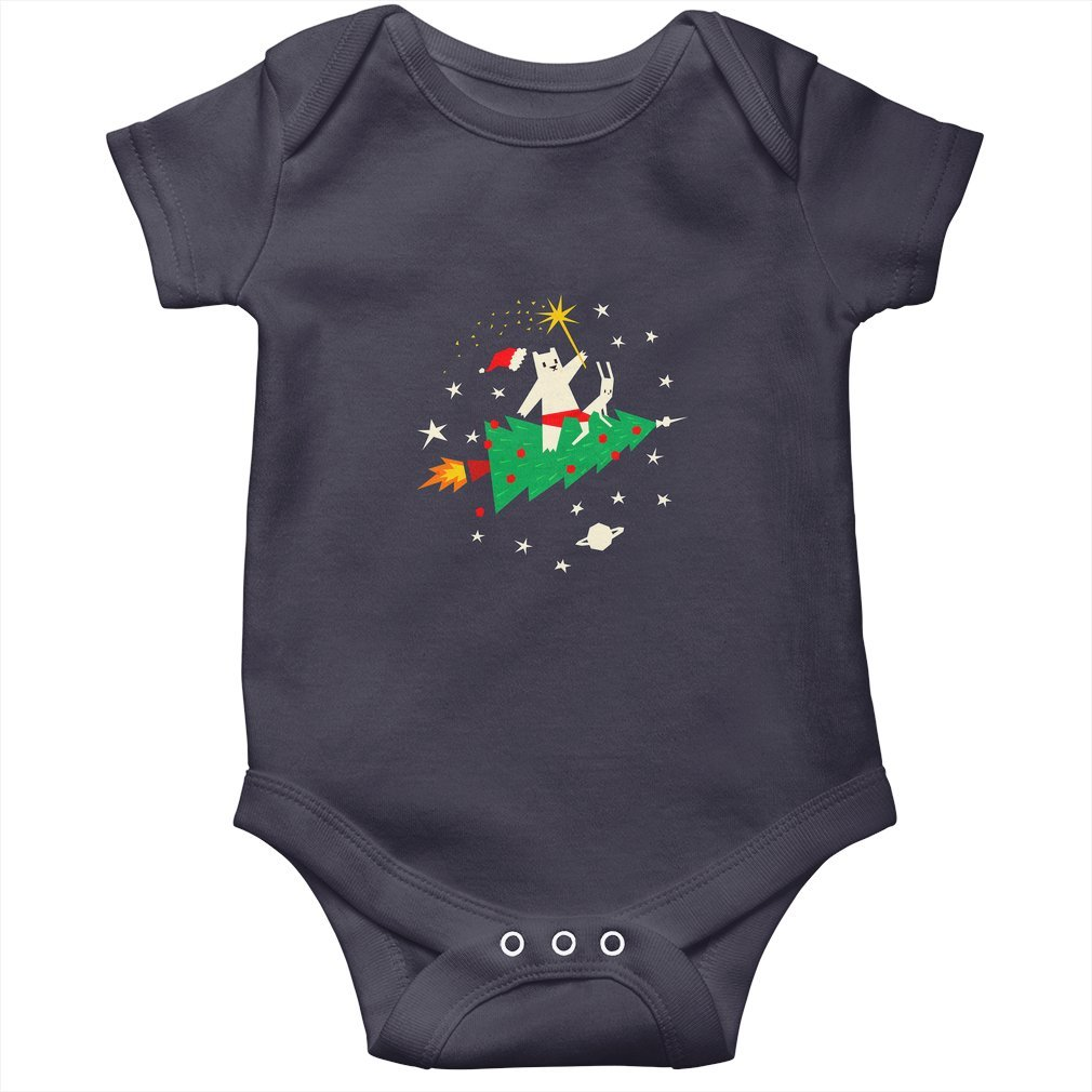 Thumb Space Christmas Baby Onesie