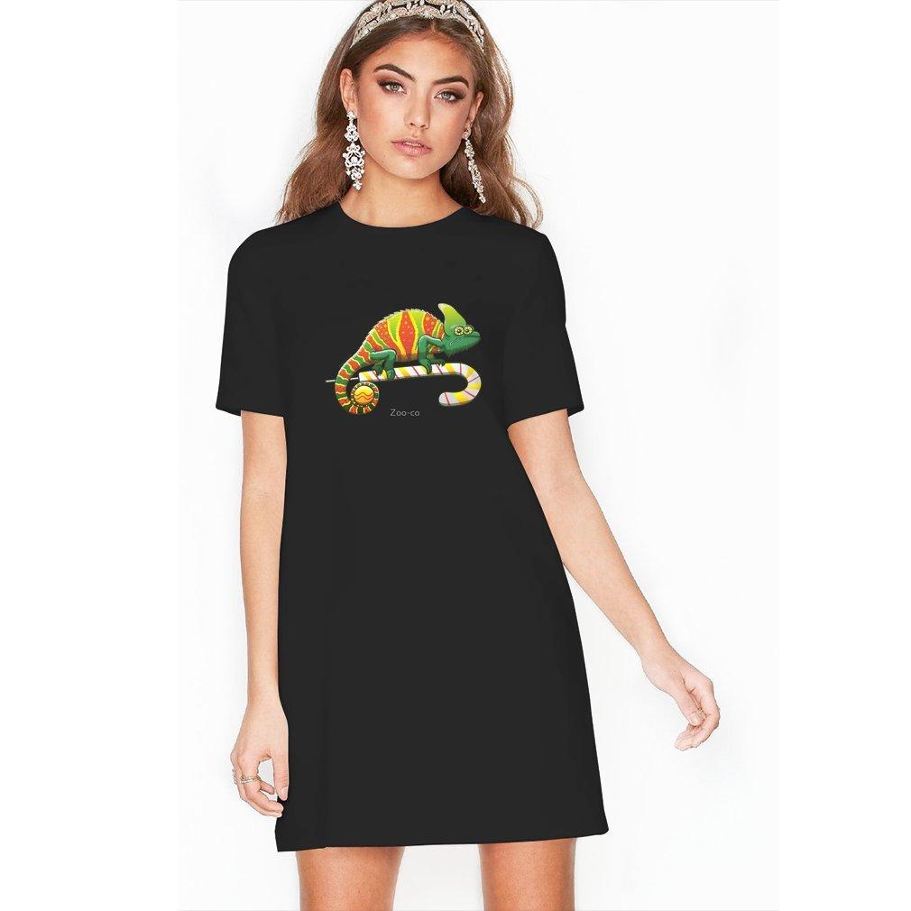 Thumb Christmas Chameleon T Shirt Dress