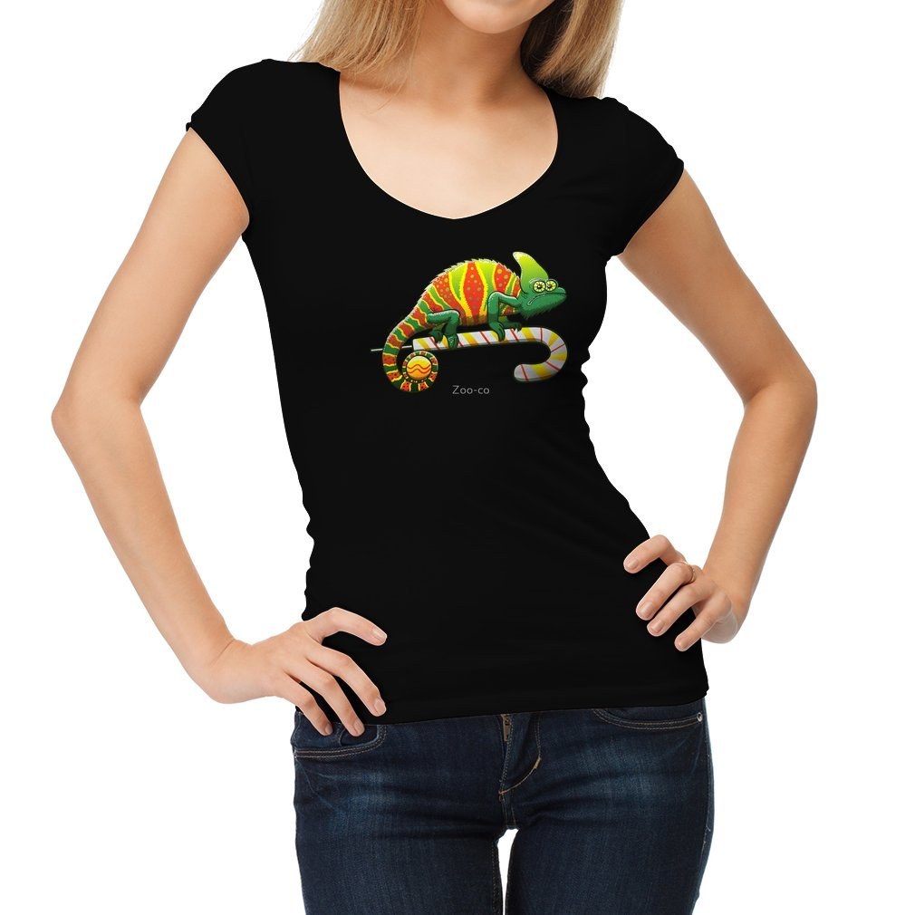 Thumb Christmas Chameleon Women T Shirt