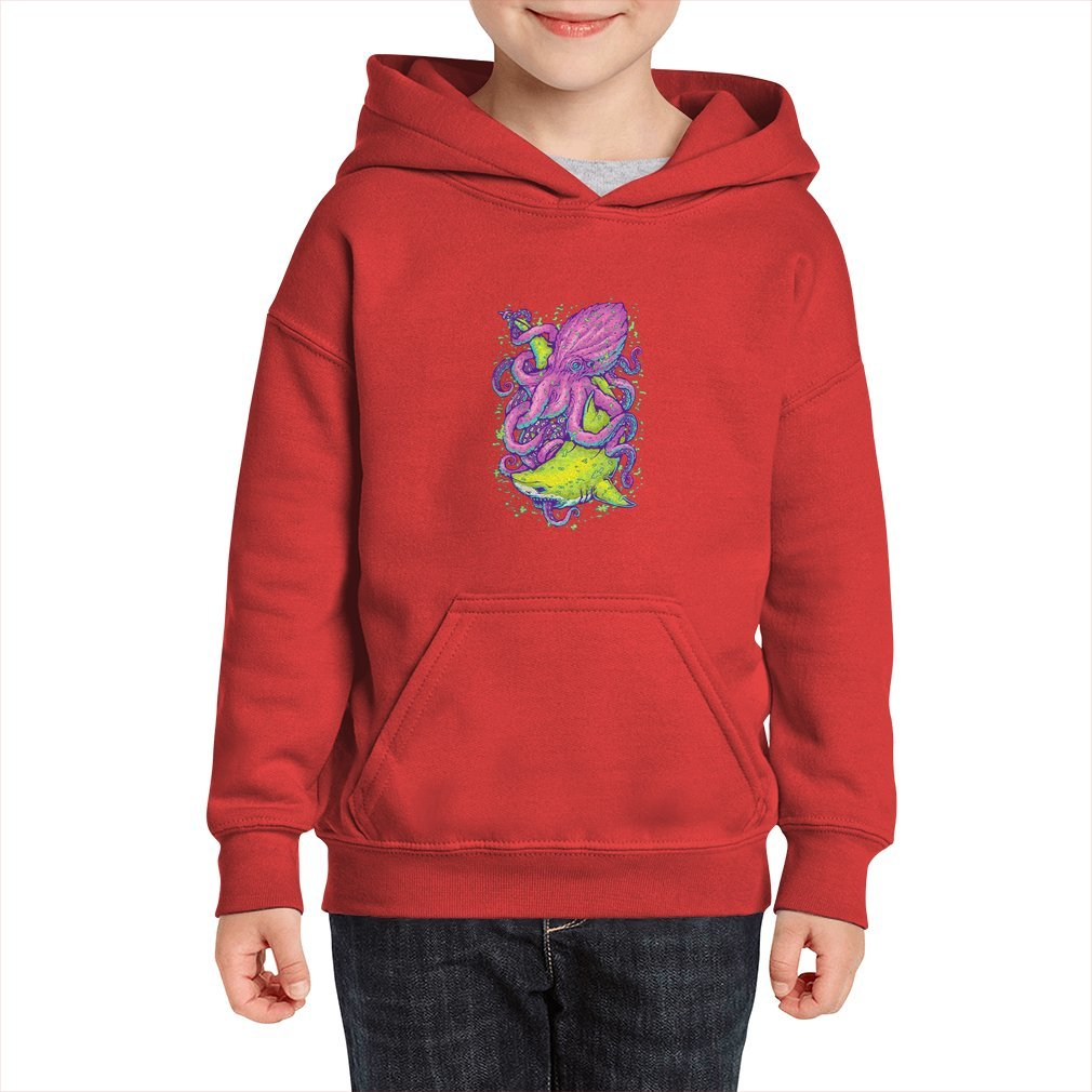 Thumb shark vs kraken Kid Hoodie