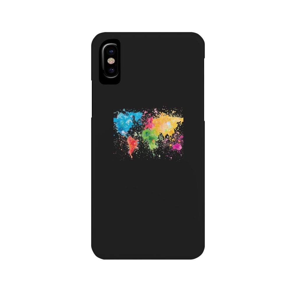 Thumb world map painting iPhone XS Max