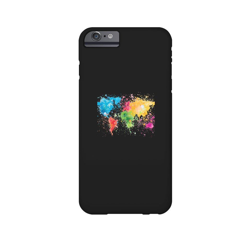 Thumb world map painting iPhone 6/6S Plus