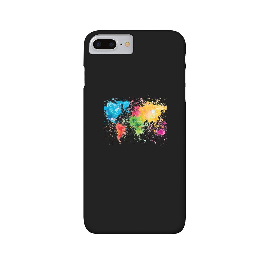 Thumb world map painting iPhone 7/8 Plus
