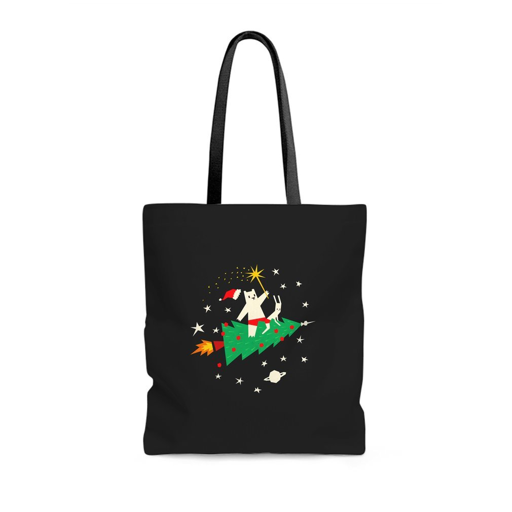 Thumb Space Christmas Tote Bag
