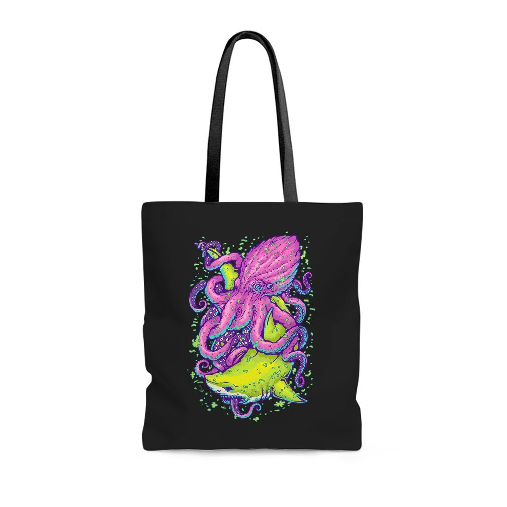 Thumb shark vs kraken Tote Bag