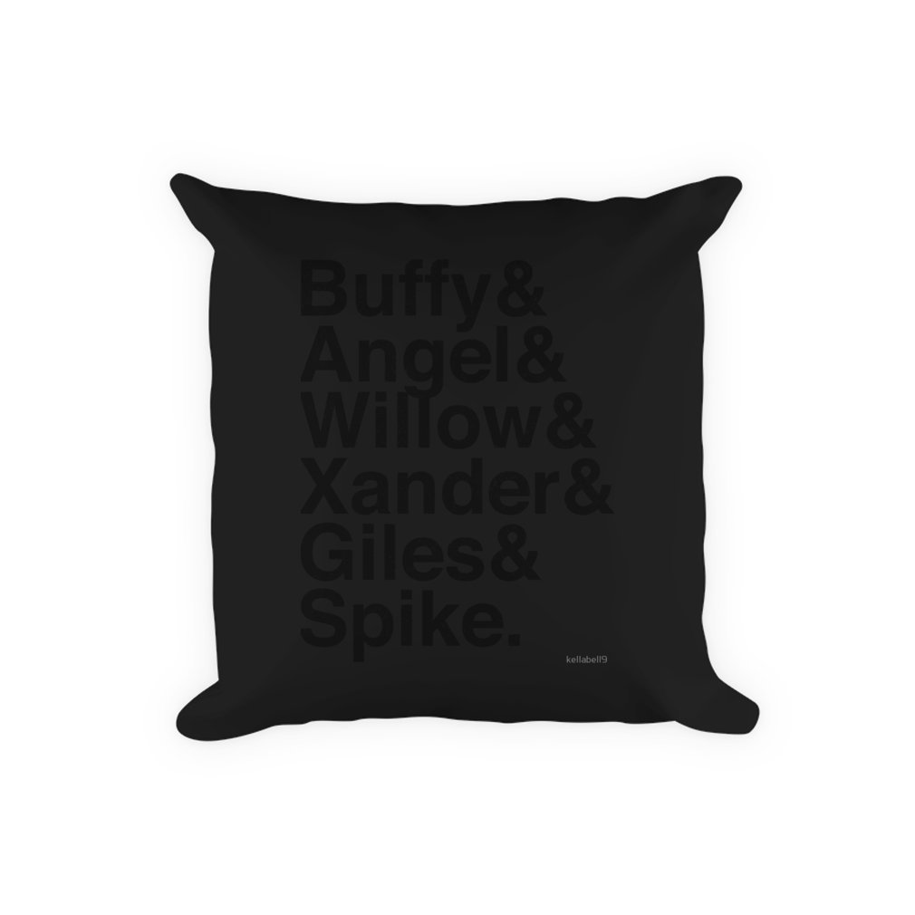 Thumb The Scooby Gang Vintage Black Pillow