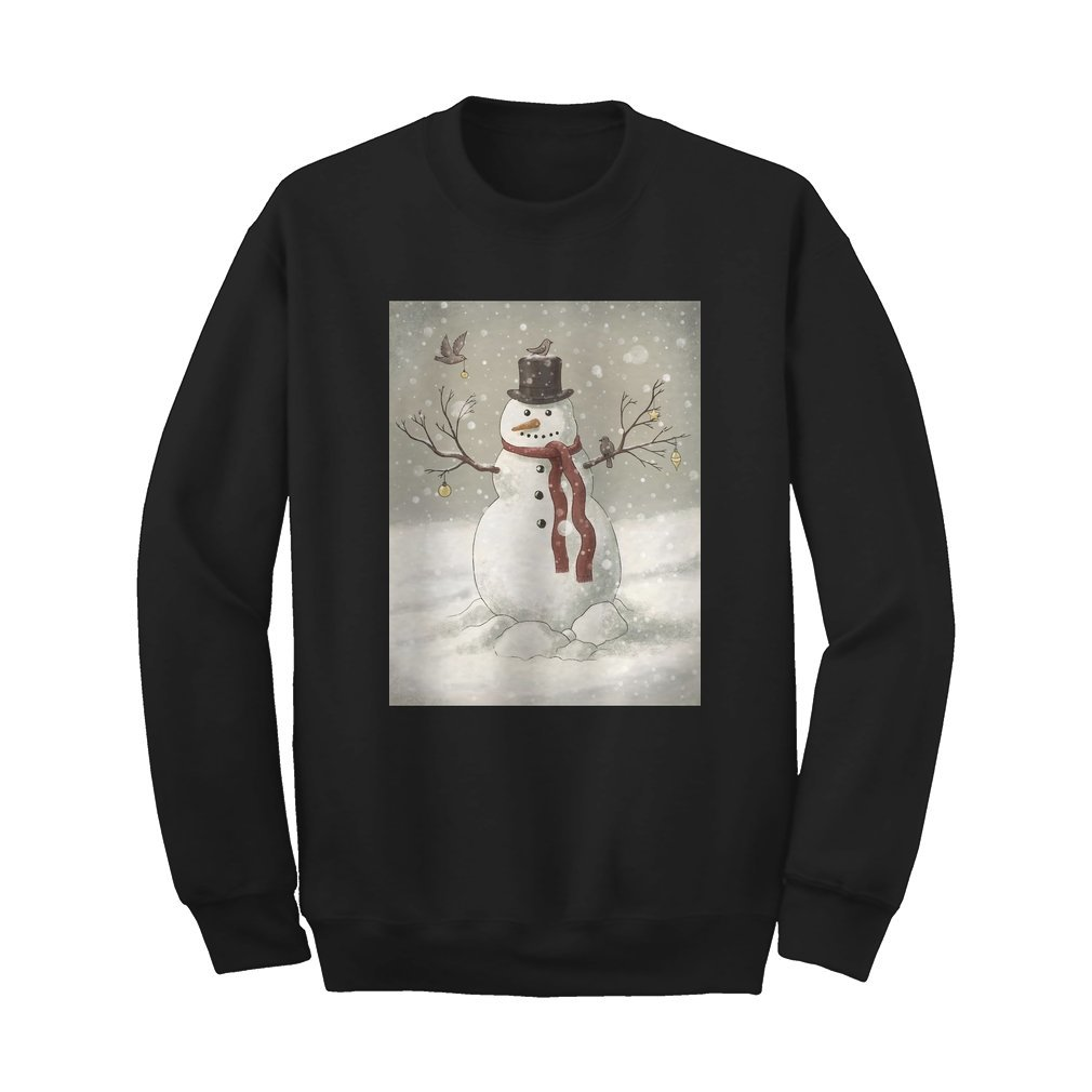 Thumb Christmas Snowman Sweat Shirt