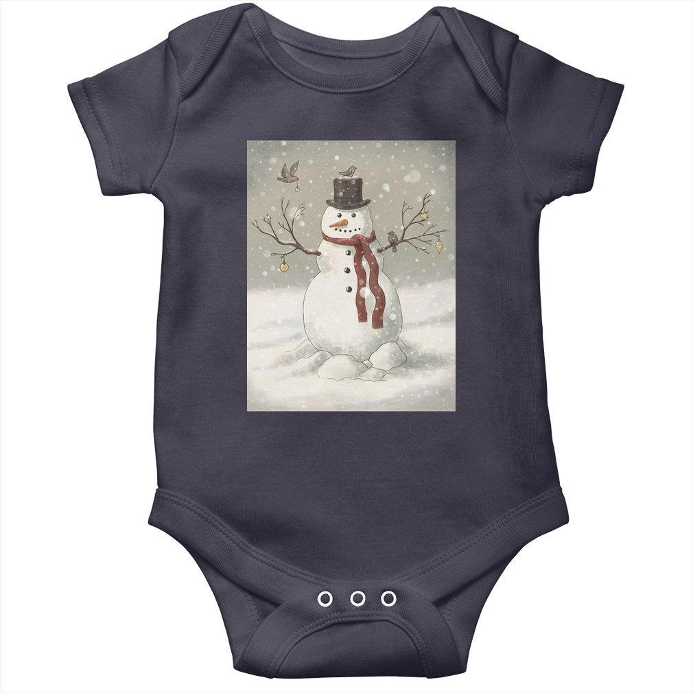 Thumb Christmas Snowman Baby Onesie