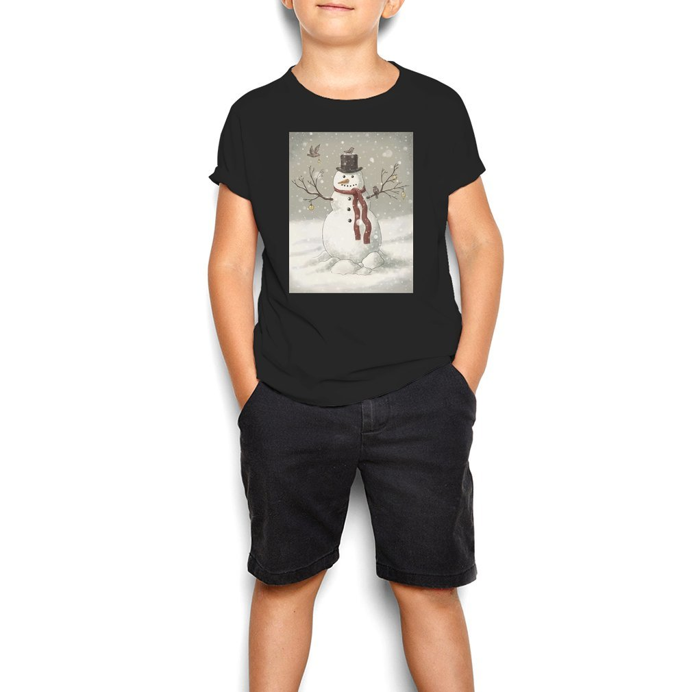 Thumb Christmas Snowman Youth Tee