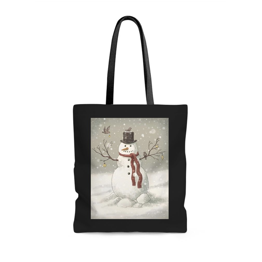 Thumb Christmas Snowman Tote Bag