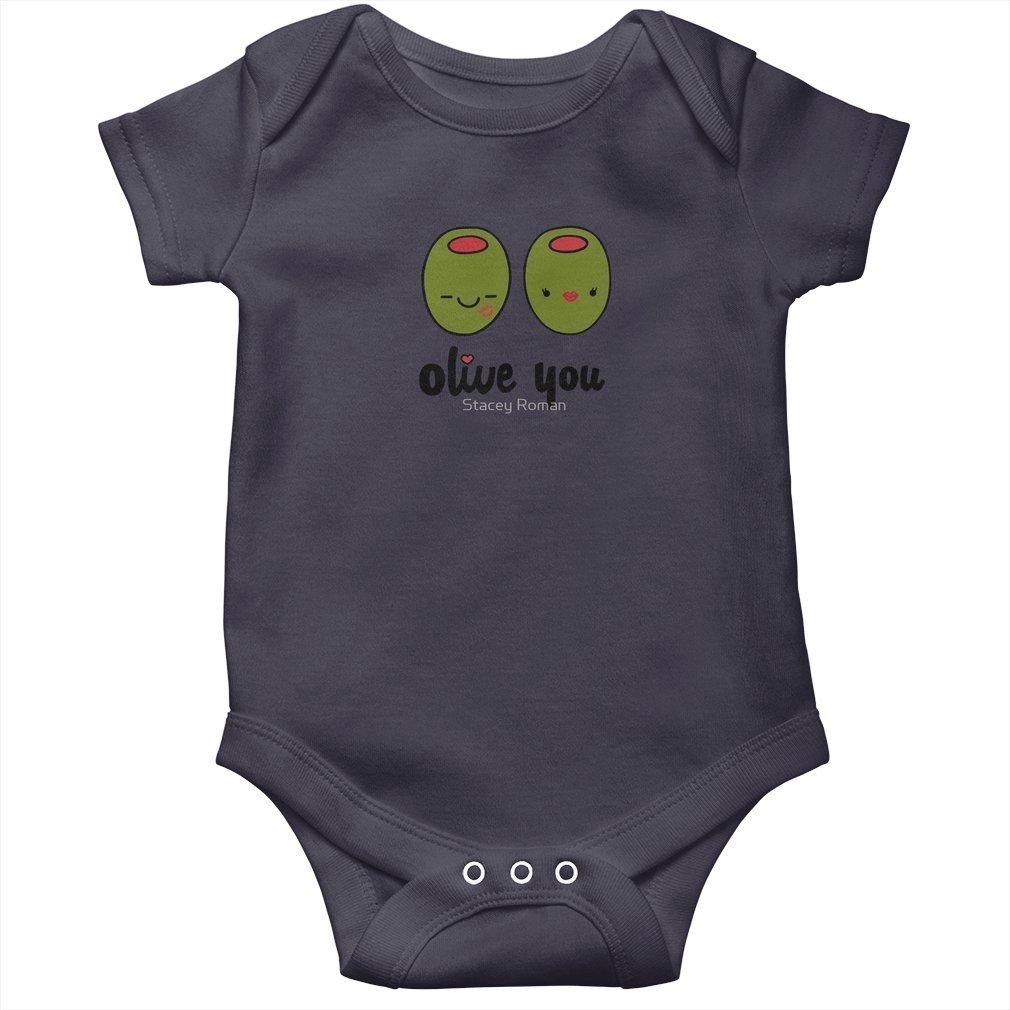 Thumb Olive You Baby Onesie