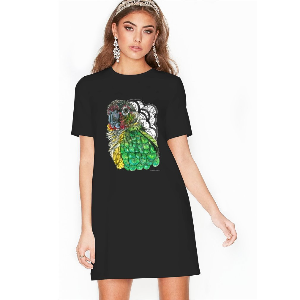 Thumb Green Cheeked Conure T Shirt Dress