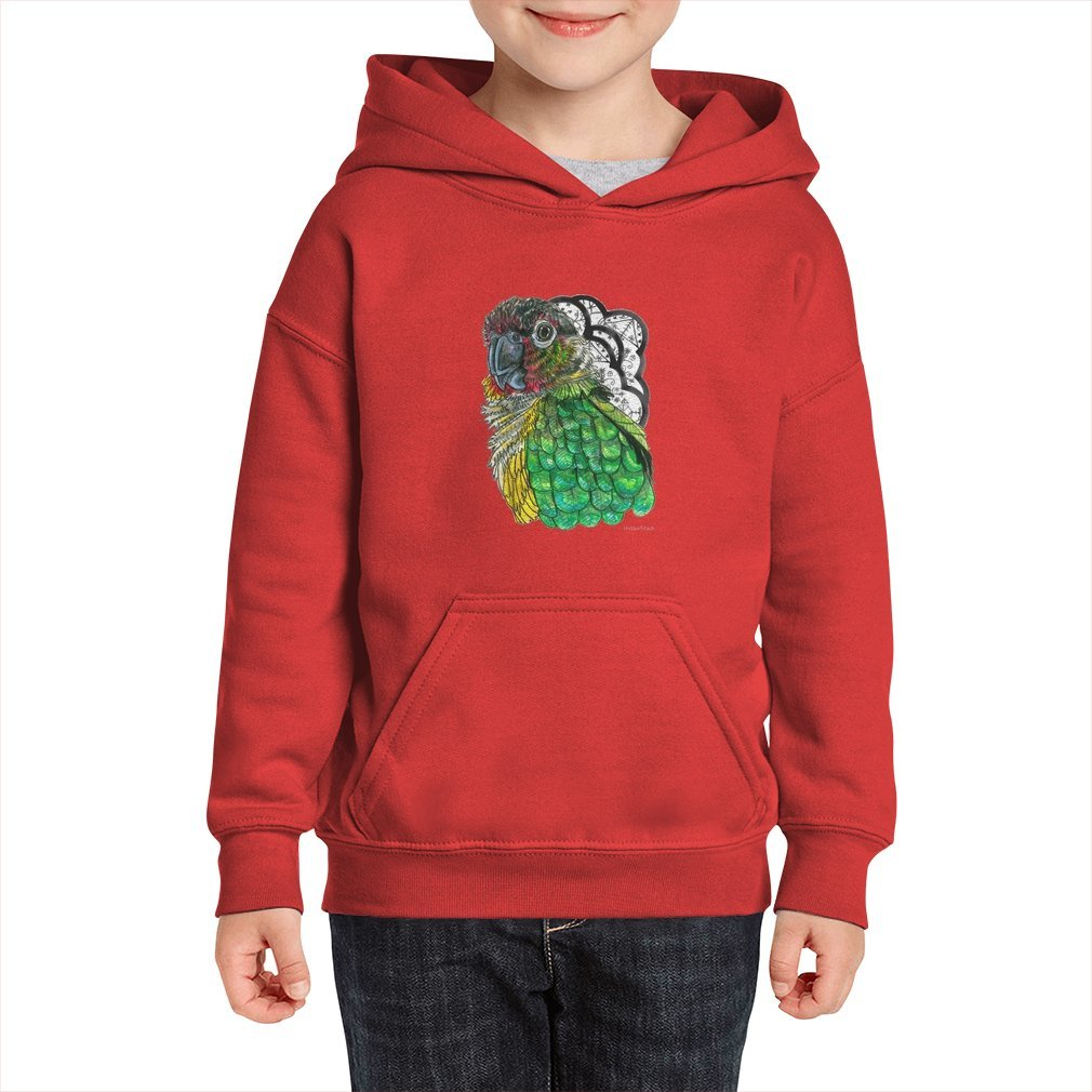 Thumb Green Cheeked Conure Kid Hoodie