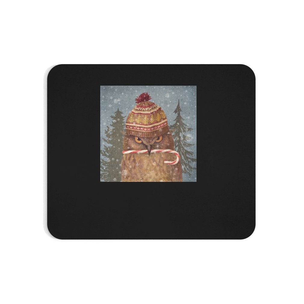 Thumb Christmas Owl Mouse Pad
