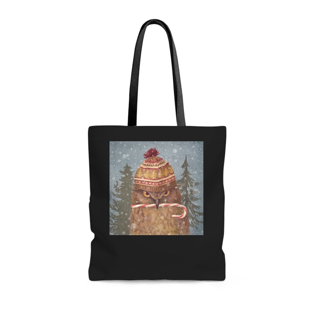 Thumb Christmas Owl Tote Bag