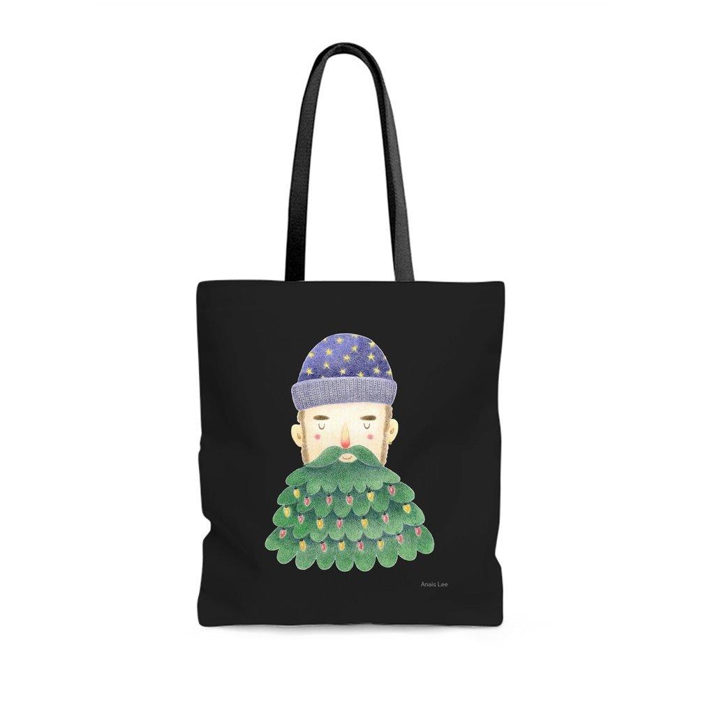 Thumb Hipster Christmas Tote Bag