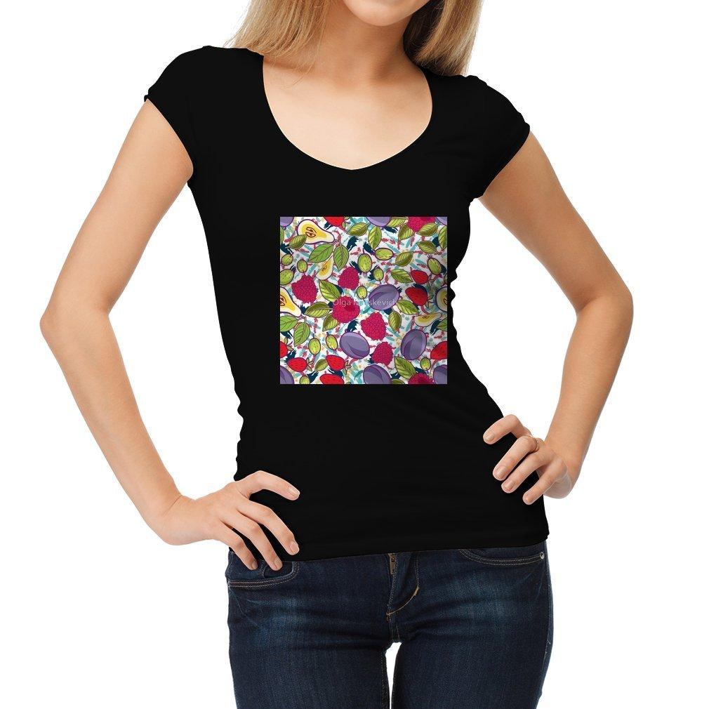 Thumb Tribal and Sweet berries seamless Women T Shirt