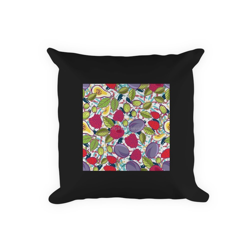 Thumb Tribal and Sweet berries seamless Pillow
